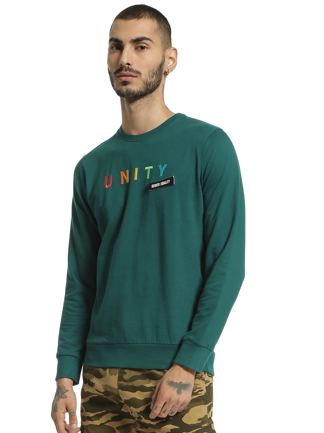 Garcon Green Unity Embroidered Velcro Patch Sweatshirt 1