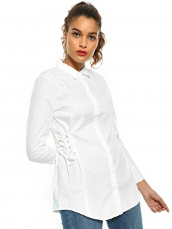 Cover Story Side Tie Up Shirt