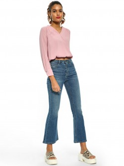 Cover Story Light Wash Flared Jeans