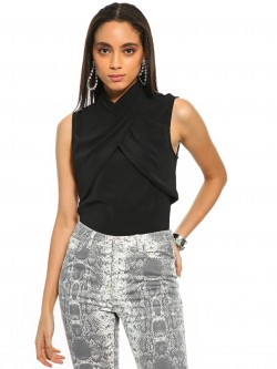 Cover Story Cross Neck Overlay Top