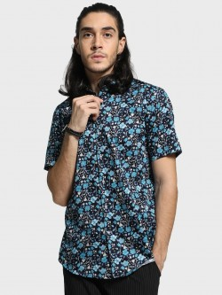 Mr Button All Over Floral Print Shirt