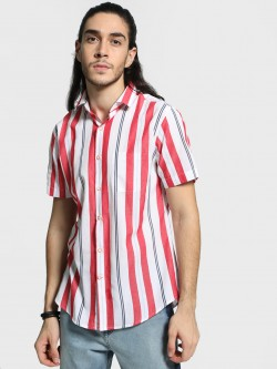 Mr Button Multi-Stripe Short Sleeve Shirt