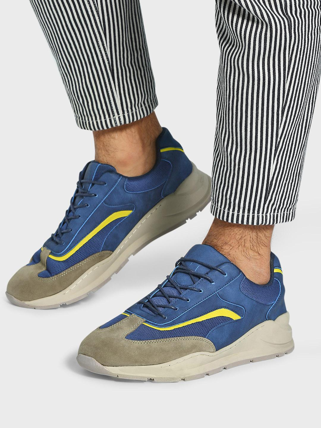 KOOVS Multi Mesh Suede Panel Sneakers 1