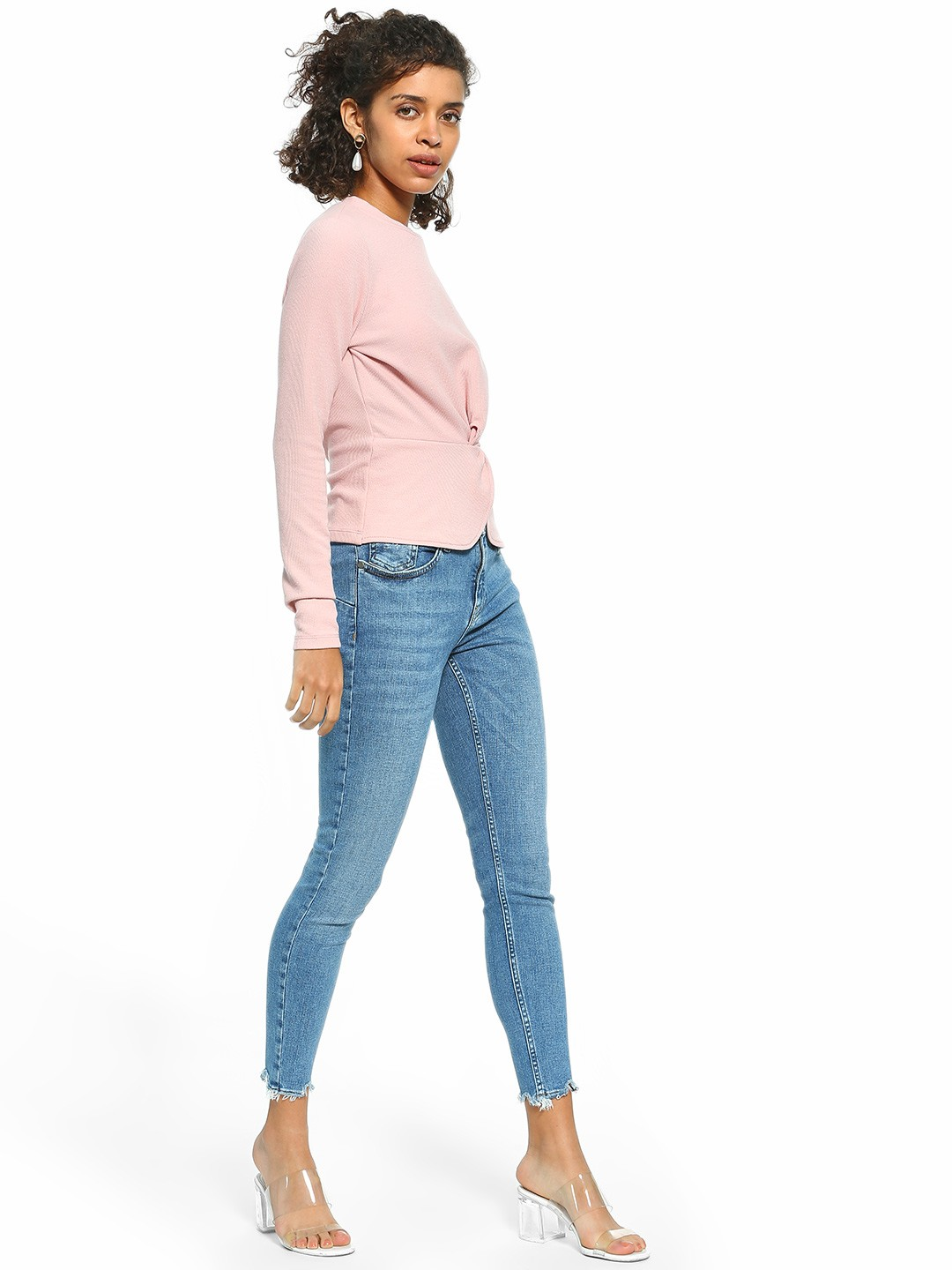 Cover Story Blue Light Wash Mid-Rise Skinny Jeans 1