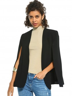 Cover Story Front Open Cape Blazer