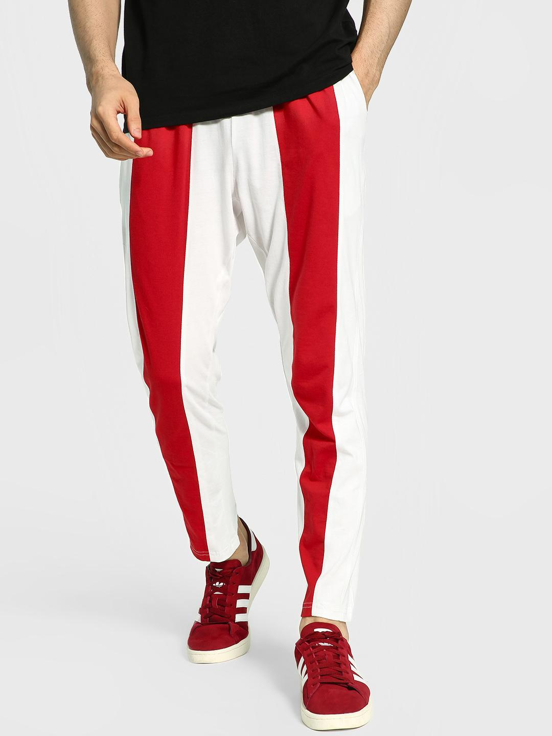 Blotch White Contrast Panel Jog Pants 1