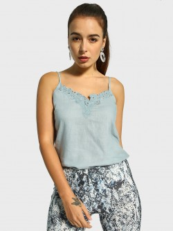 Cover Story Broderie Lace Cami Top