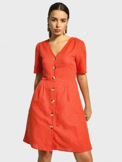 Cover Story Button-Down Shift Dress