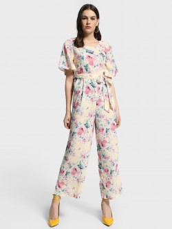 Cover Story Floral Print Tie-Knot Jumpsuit