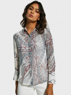 Cover Story Paisley Scarf Print Shirt