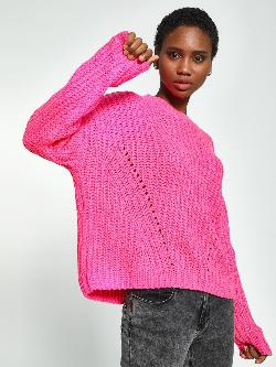 KOOVS Cable Knit Boxy Jumper