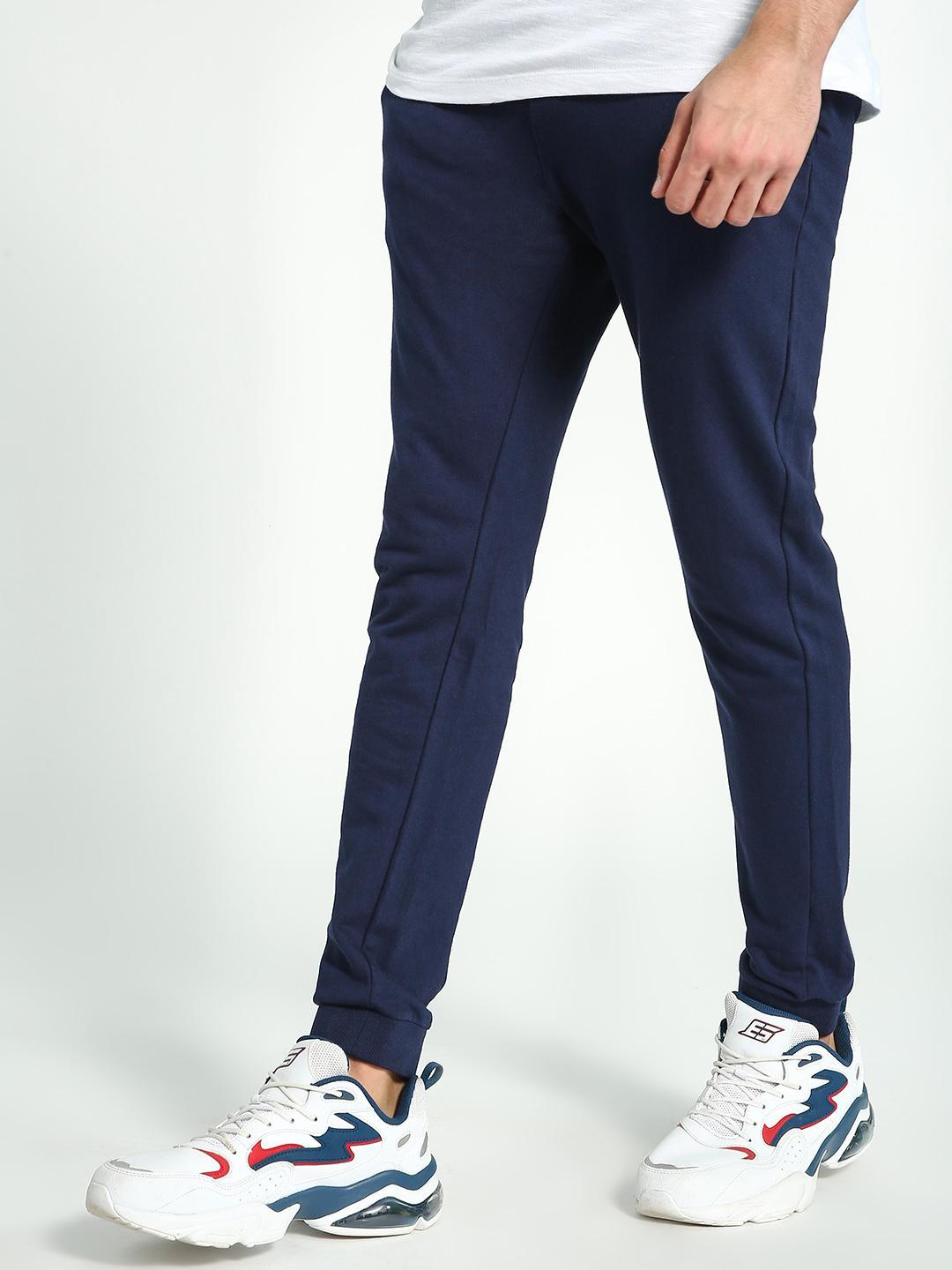 KOOVS Navy Basic Slim Fit Joggers 1