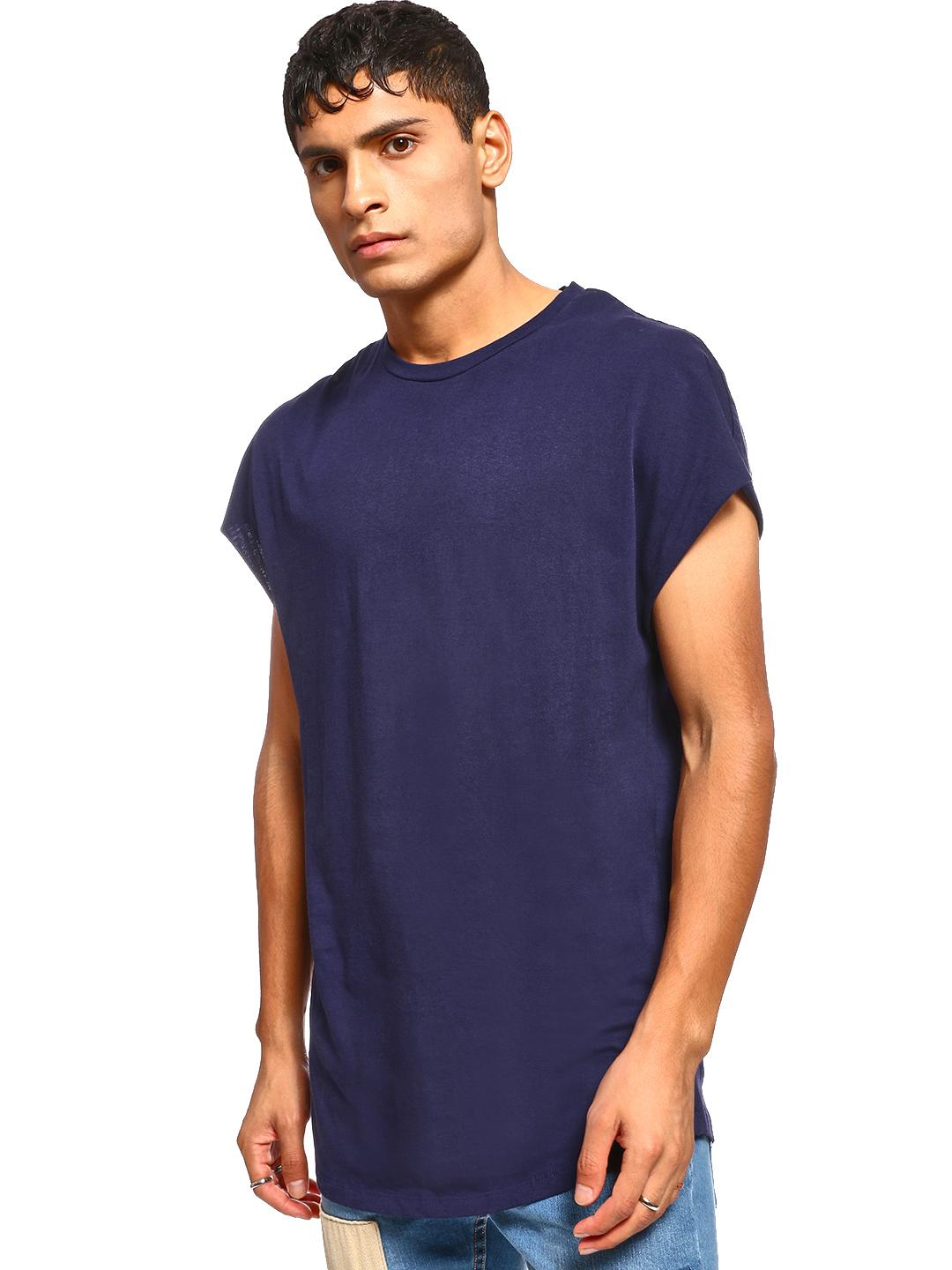KOOVS Navy Basic Cap Sleeve T-Shirt 1