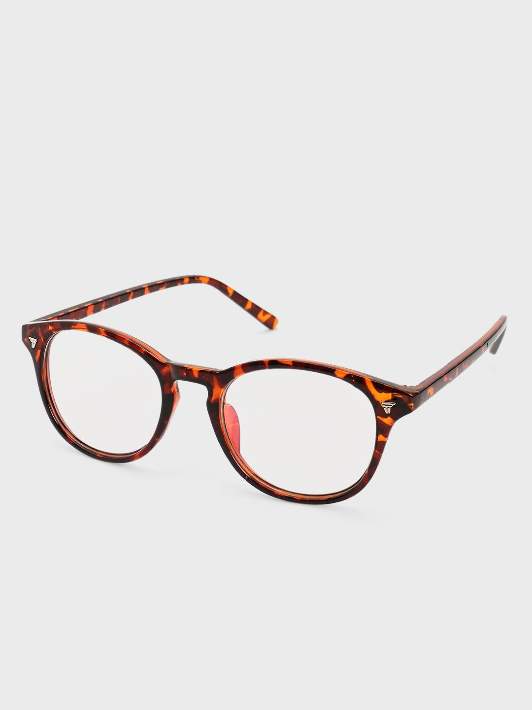 Pataaka Brown Tortoise Shell Clear Lens Sunglasses 1