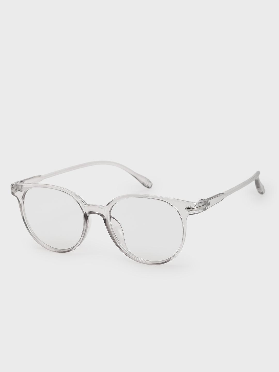 Pataaka White Clear Lens Round Sunglasses 1
