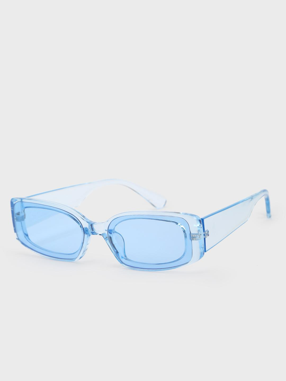 Pataaka Blue Coloured Lens Retro Sunglasses 1