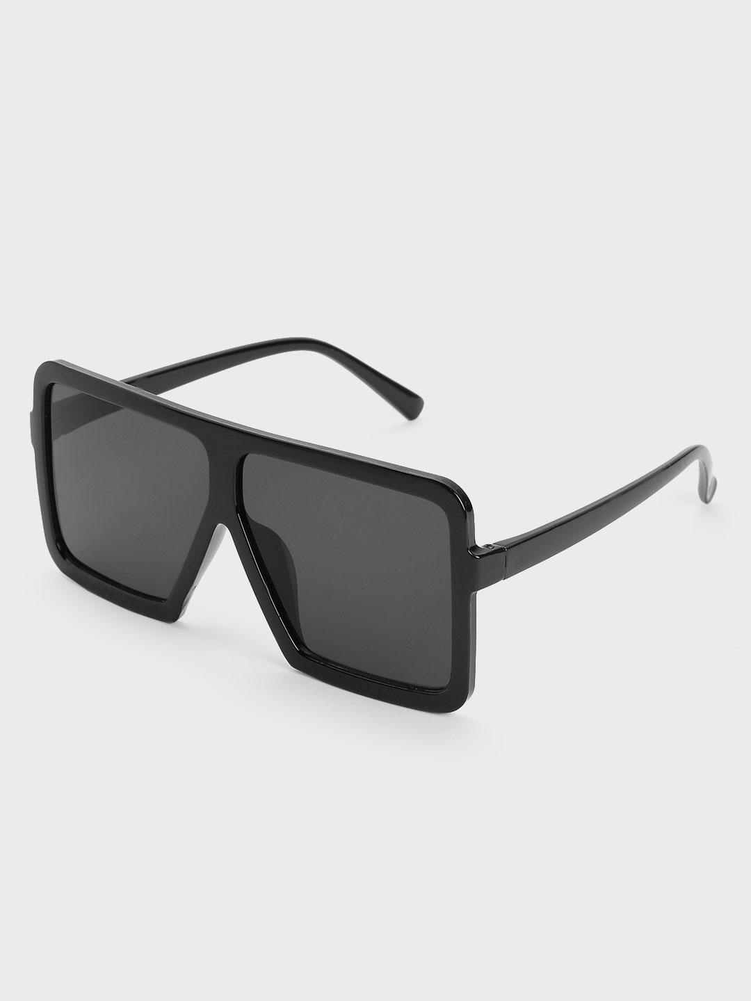 Pataaka Black Broad Square Frame Sunglasses 1