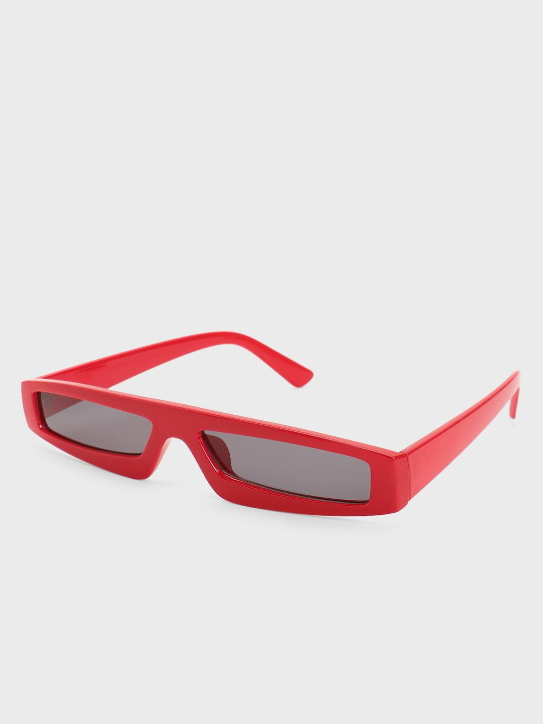 Pataaka Red Coloured Frame Futuristic Retro Sunglasses 1
