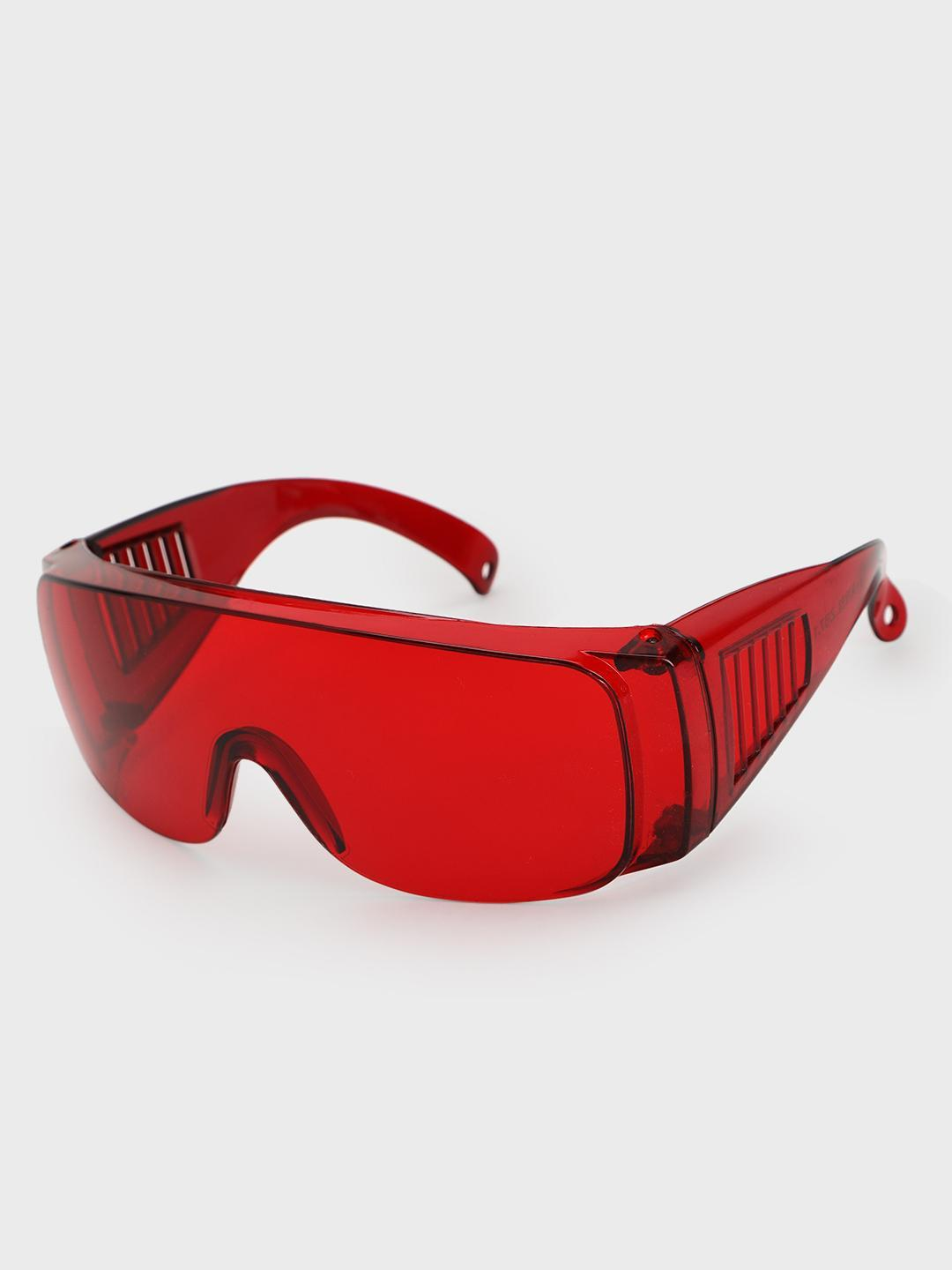 Pataaka Red Coloured Frameless Futuristic Sunglasses 1