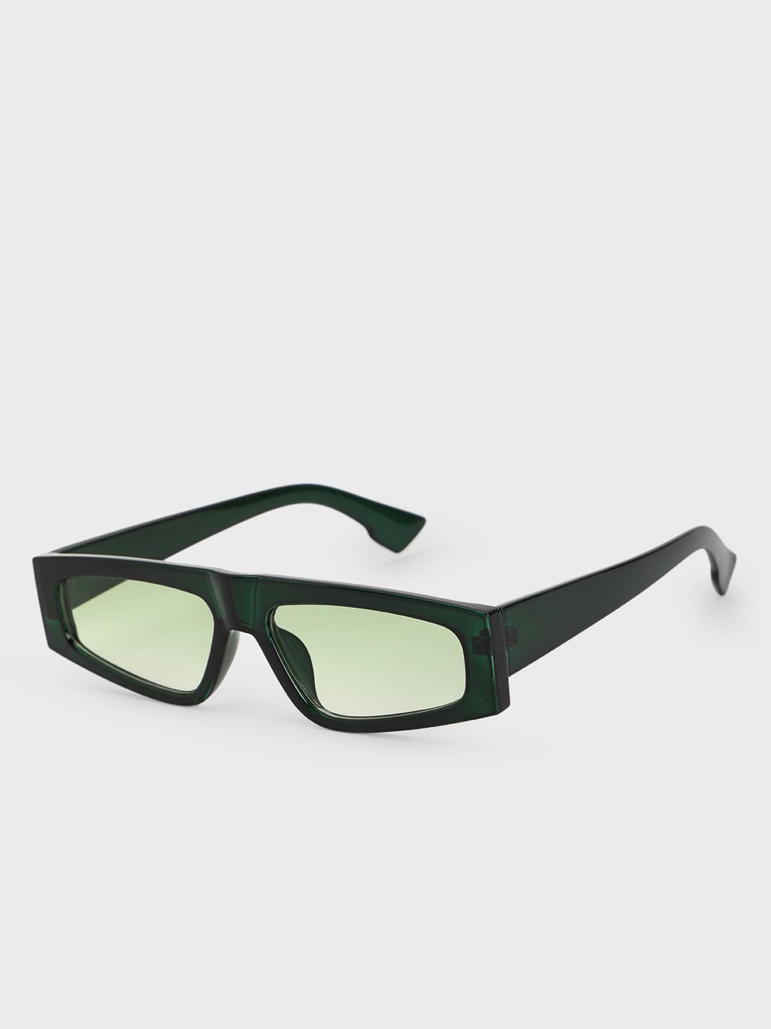 Pataaka Green Tinted Lens Retro Sunglasses 1