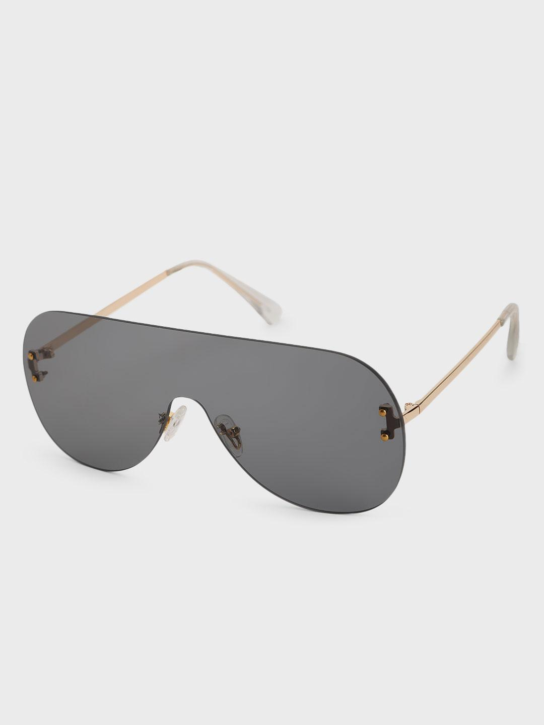 Pataaka Grey Tinted Lens Frameless Classic Sunglasses 1