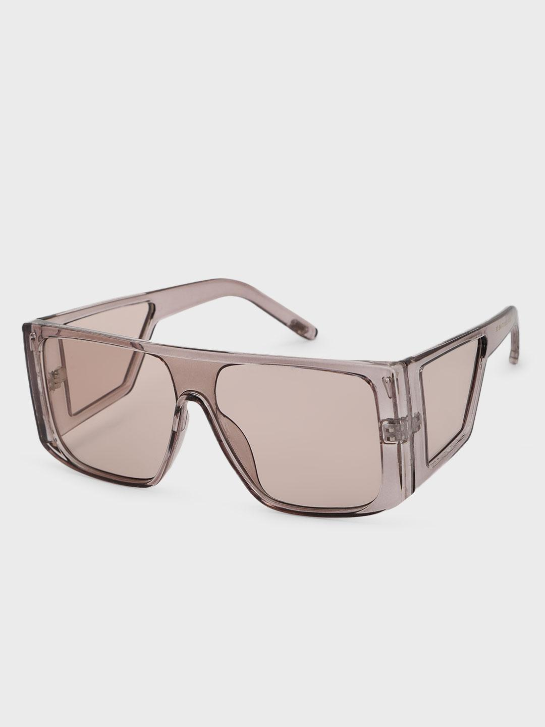 Pataaka Grey Tinted Lens Broad Square Sunglasses 1