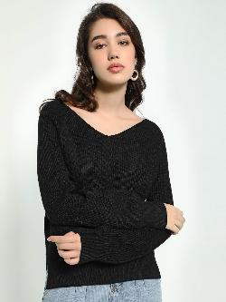 KOOVS V-Neck Knitted Jumper
