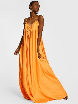 The Paperdoll Company Criss-Cross Back Maxi Dress