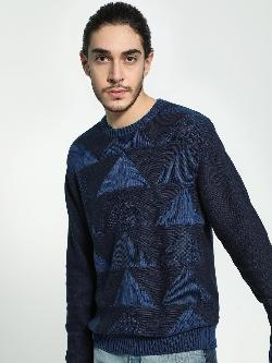 Akiva Knitted Jacquard Pullover