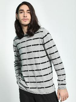 Akiva All Over Broken Stripes Pullover