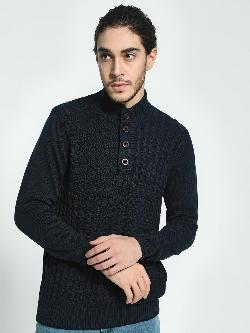 Akiva High Neck Knitted Pullover