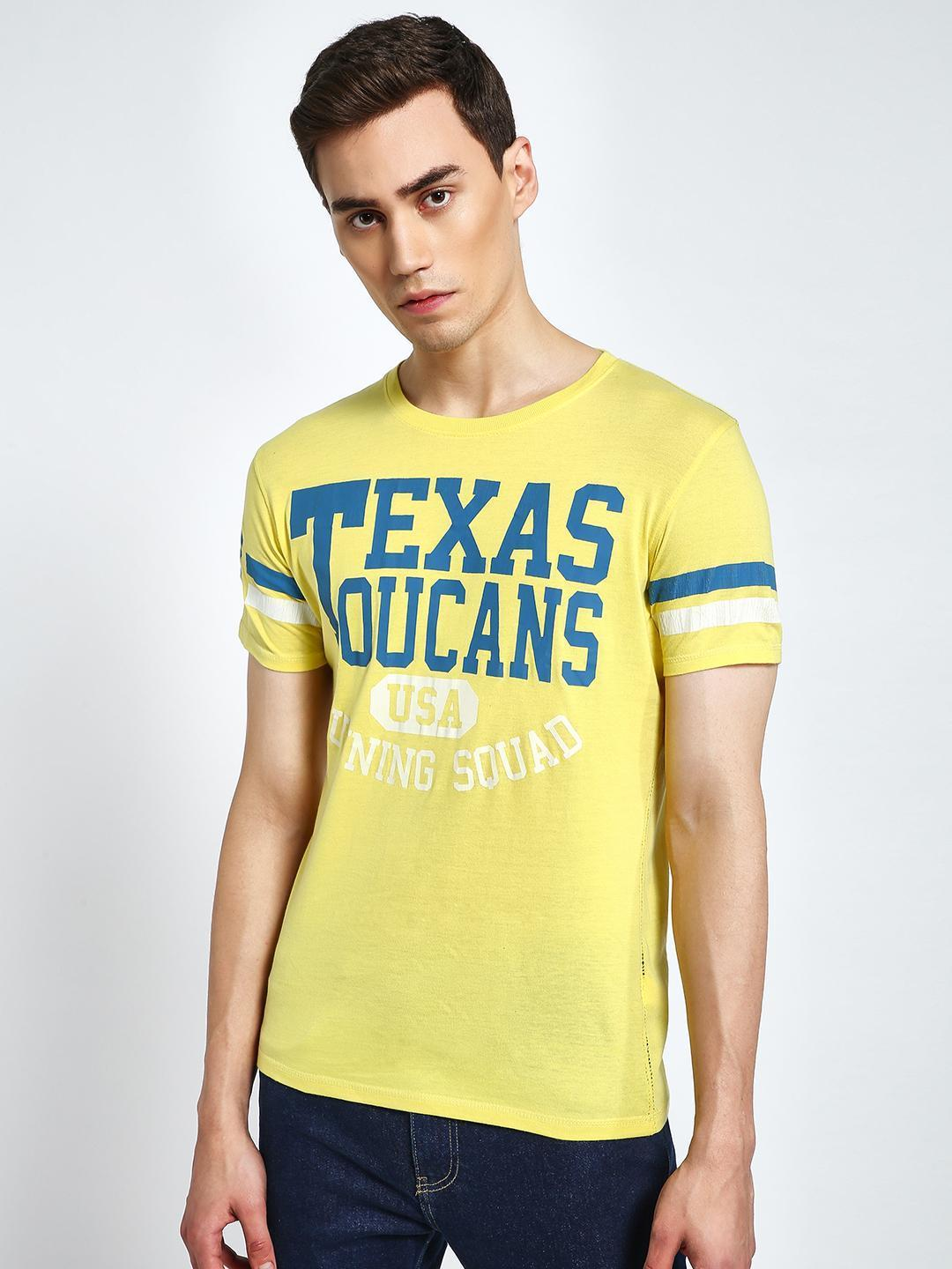Alcott Yellow Text Placement Print T-Shirt 1