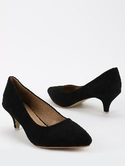 My Foot Couture Suede Kitten Heeled Pumps