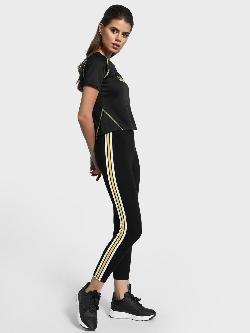 EmmaCloth Contrast Side Tape Leggings