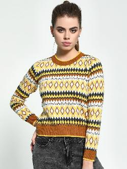 Akiva Fair Isle Crop Sweater