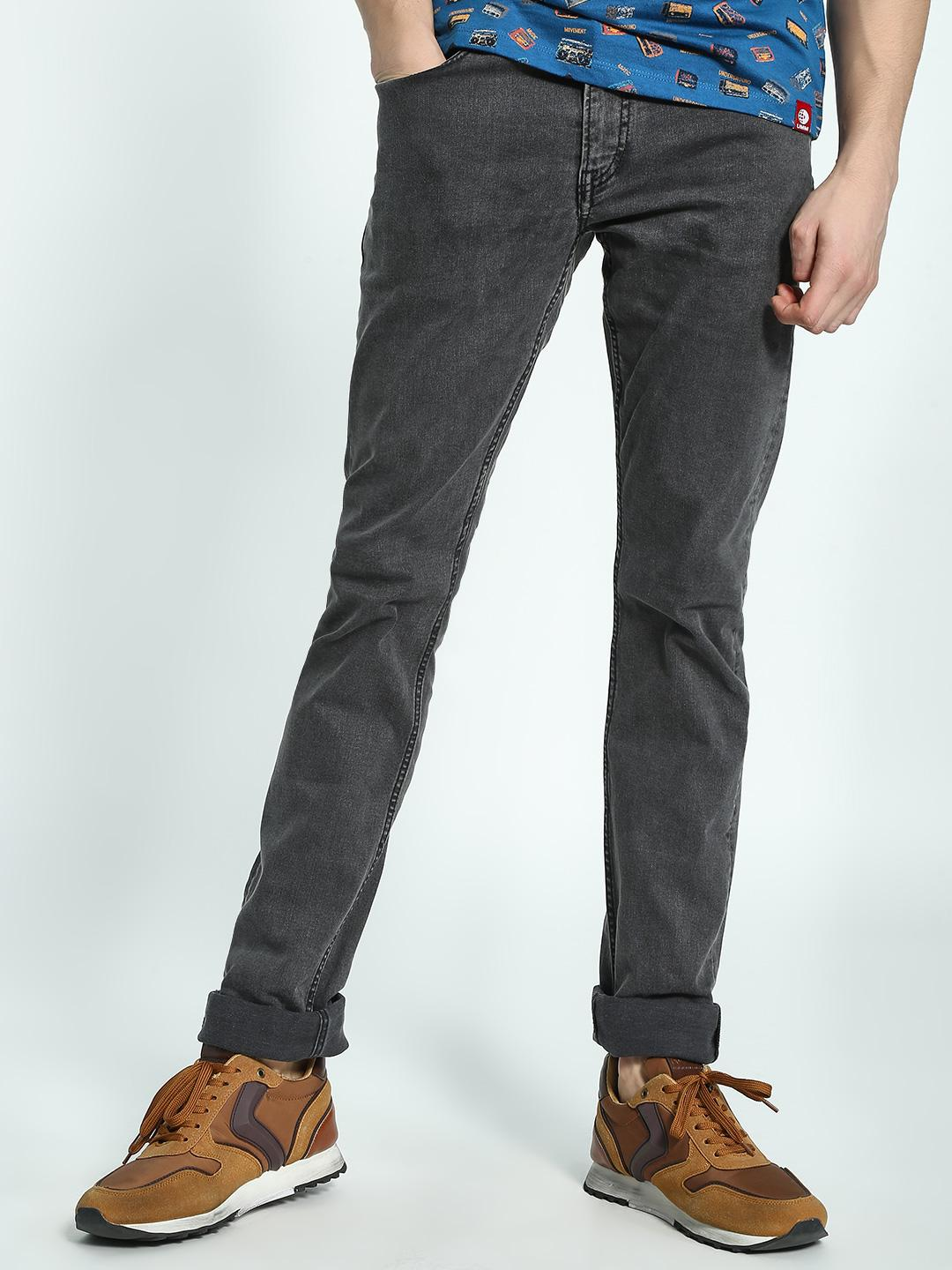 Celio Grey Mid Wash Slim Jeans 1