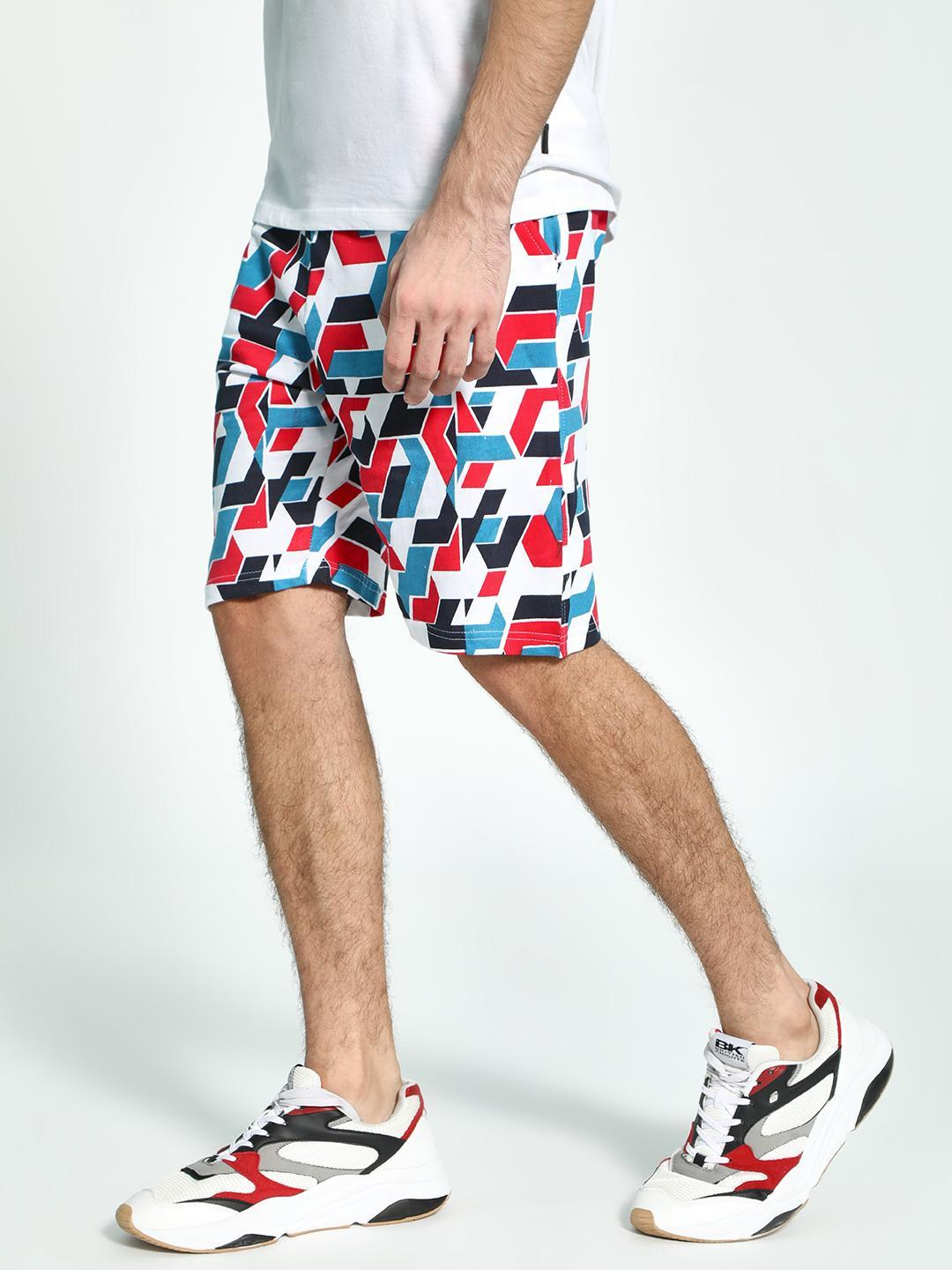 Fighting Fame White Rapgod Placement Print Shorts 1