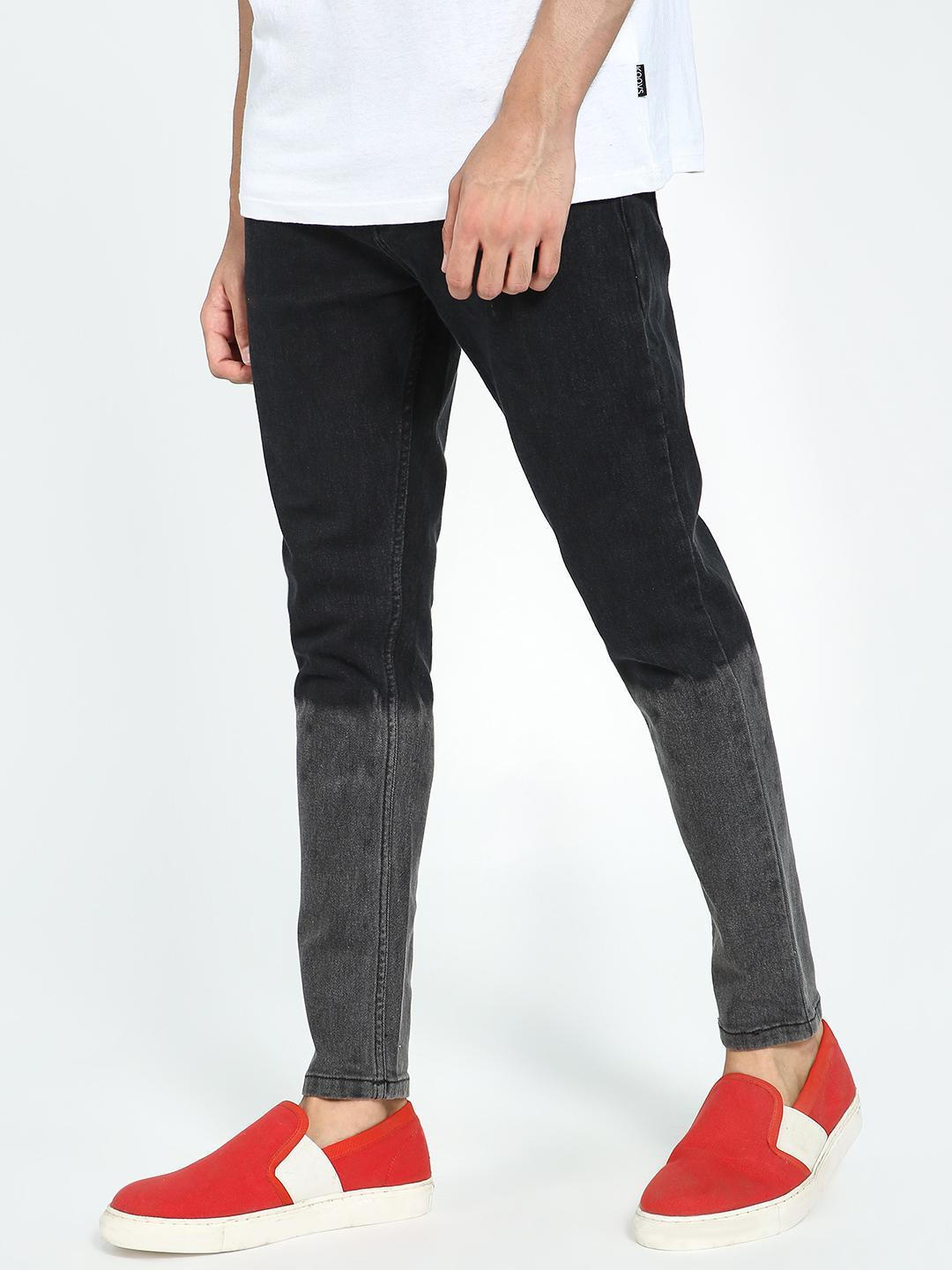 TRUE RUG Black Ombre Effect Slim Jeans 1