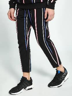 KOOVS Vertical Stripe Print Jog Pants