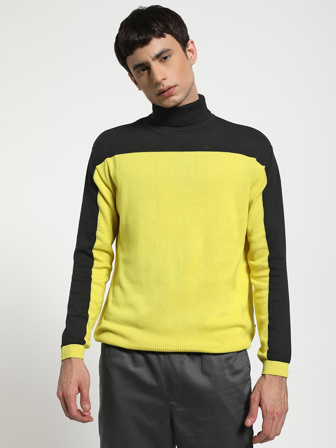 KOOVS Multi Knitted Colour Block Pullover 1