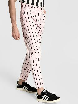KOOVS Vertical Stripe Slim Trousers