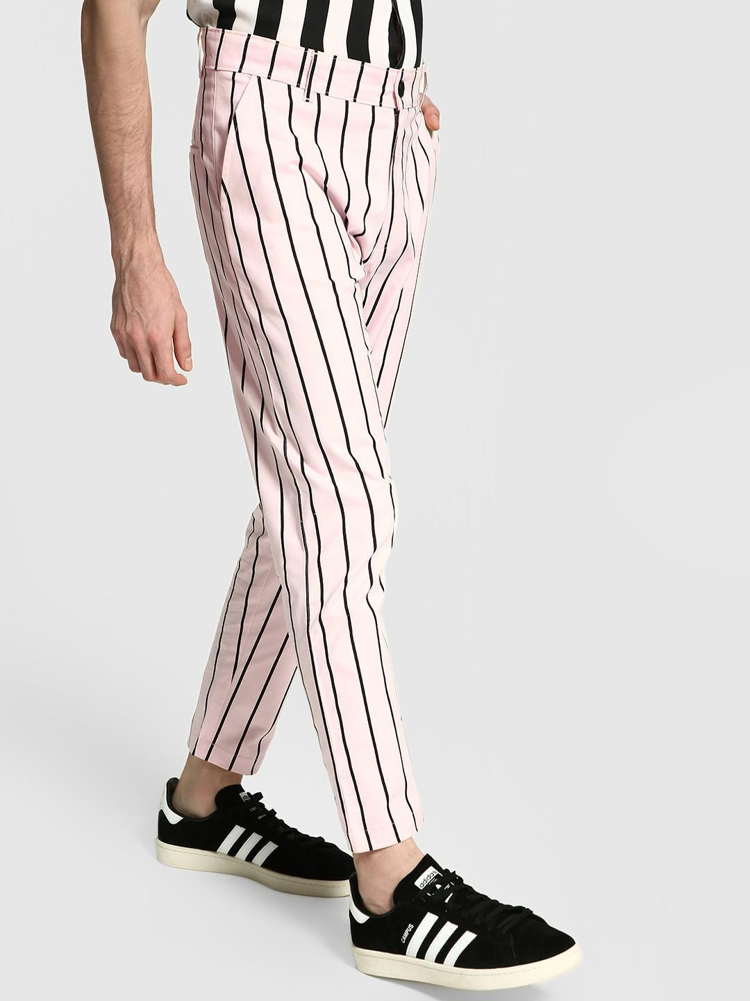 KOOVS Multi Vertical Stripe Slim Trousers 1