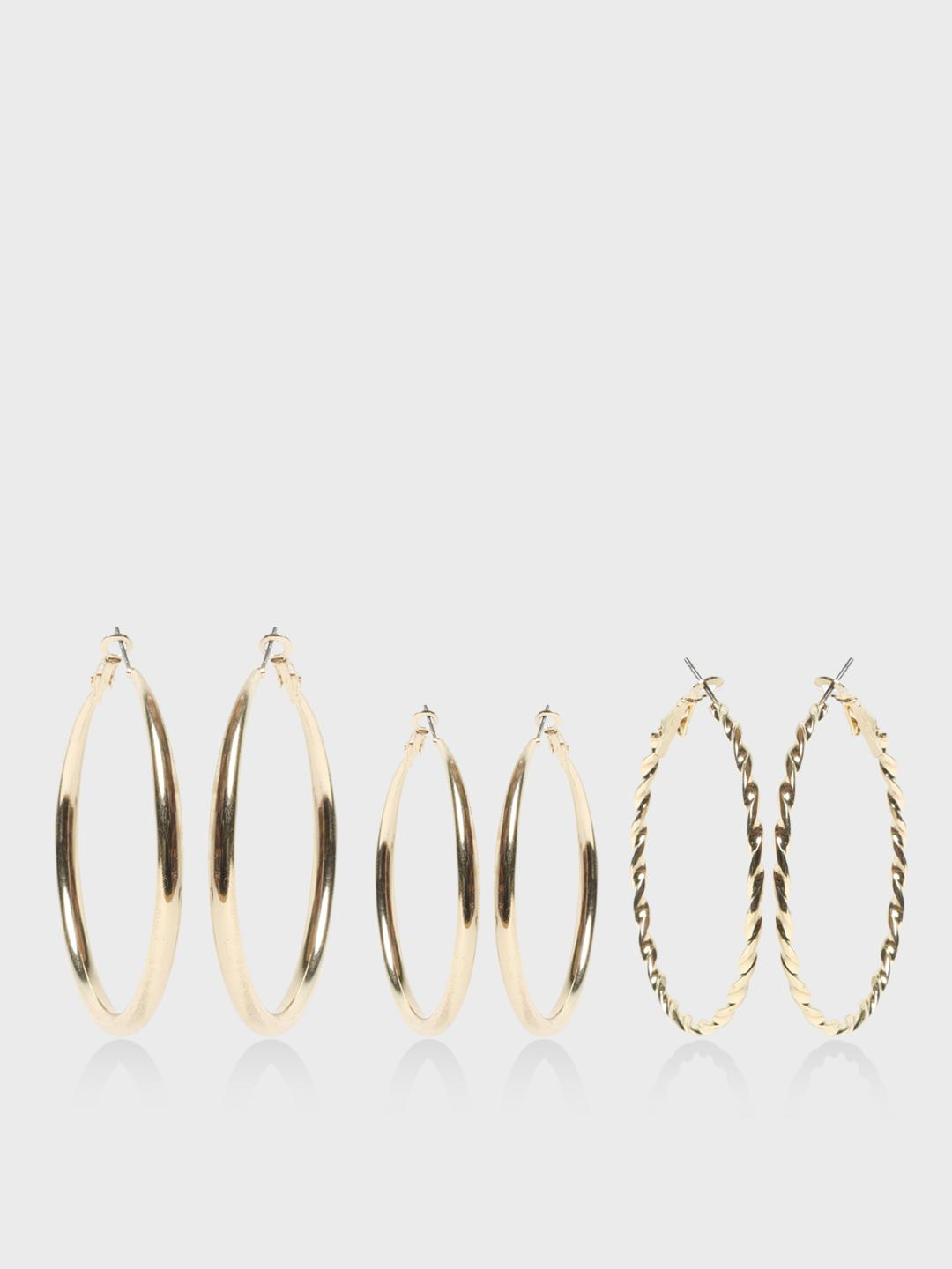 Funky Fish Golden Gold Tone Hoops (Set Of 3) 1