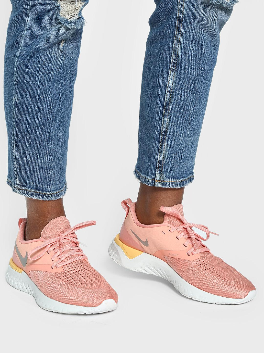 Nike Pink Odyssey React 2 Flyknit Shoes 1