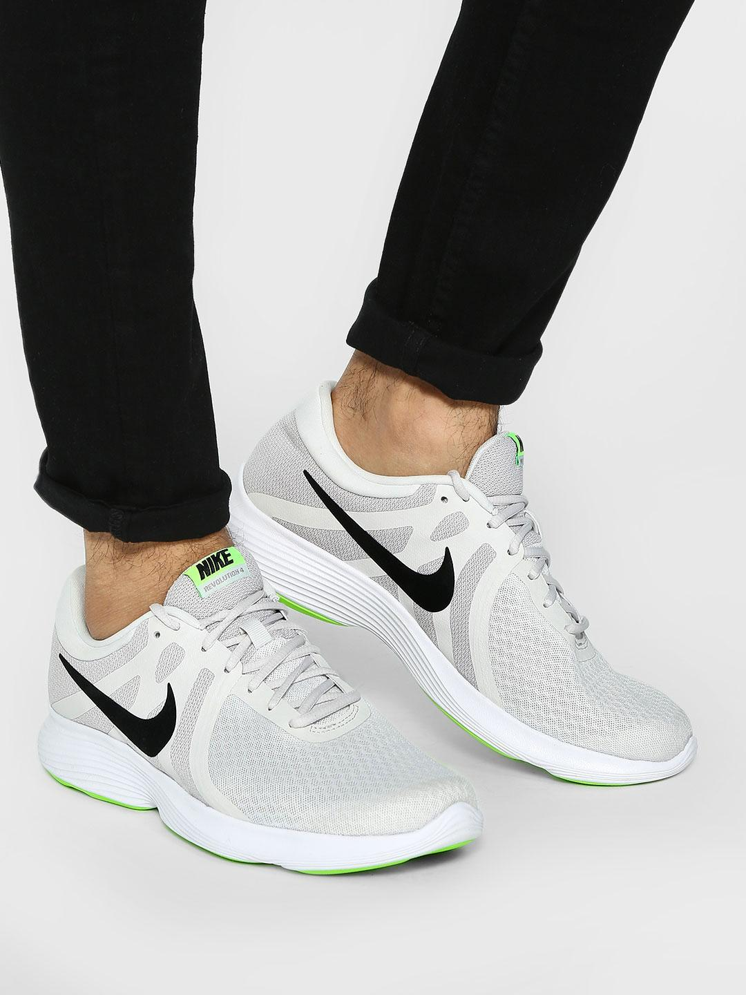Nike Grey Revolution 4 Running Shoes 1