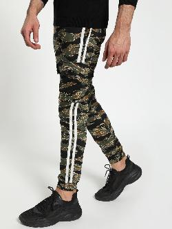 TRUE RUG Camouflage Side Tape Utility Joggers