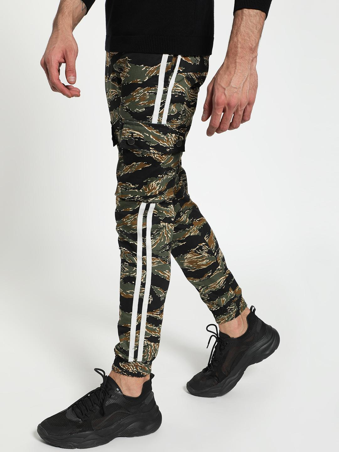 TRUE RUG Multi Camouflage Side Tape Utility Joggers 1