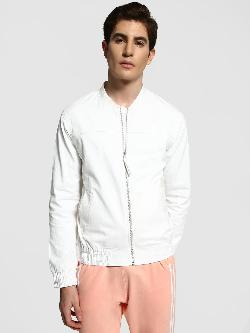 TRUE RUG Zip-Through Baseball Collar Jacket