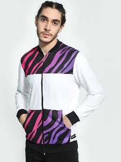 Fighting Fame Zebra Print Cut & Sew Jacket