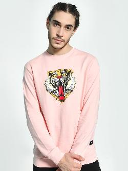 Fighting Fame Tiger Paws Placement Print Sweatshirt